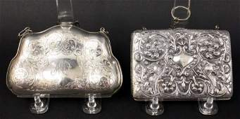 Two Ladies' Sterling Silver Purses