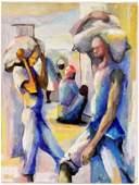 Dieudonné Cédor Figural Oil on Canvas