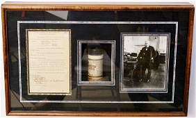 Thomas Edison Signed Document in Shadow Box