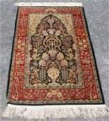 Hand Made Turkish Silk Hereke Throw Rug