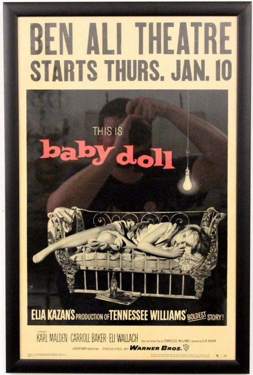 "Vintage 1956 ""Baby Doll"" Film or Movie Poster"