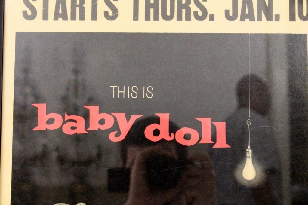 "Vintage 1956 ""Baby Doll"" Film or Movie Poster - 4"