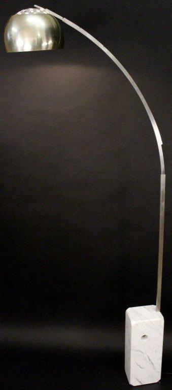 Polished Steel Arco Floor Lamp