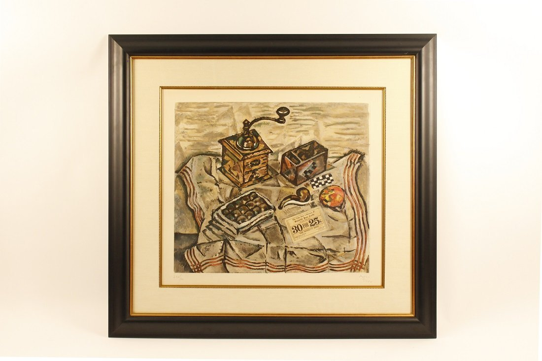 """After Miro """"Still Life with Coffee Grinder"""" Print"""