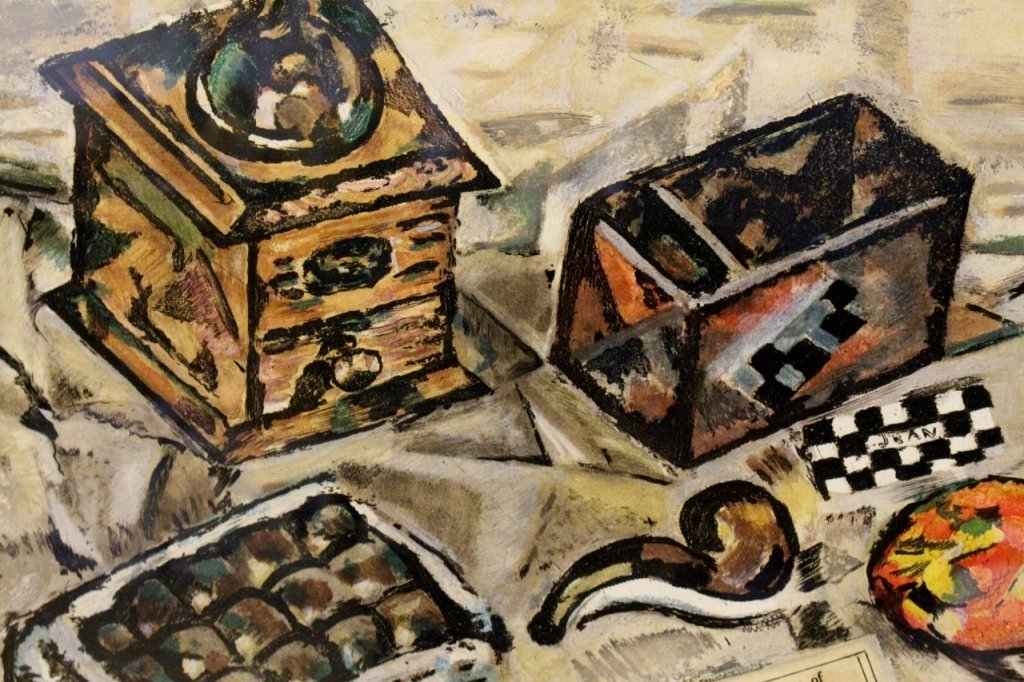 """After Miro """"Still Life with Coffee Grinder"""" Print - 4"""