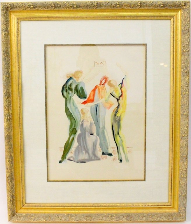 "After Salvador Dali, ""Les Servantes"" Lithograph"