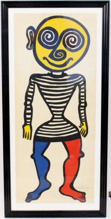 """Alexander Calder """"Puppet Man"""" Lithograph, Signed"""