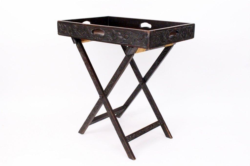 Continental Oak Butler's Tray Table