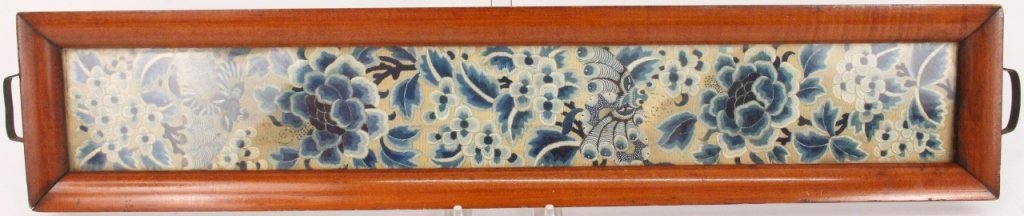 Chinese Silk Embroidery Textile Tray