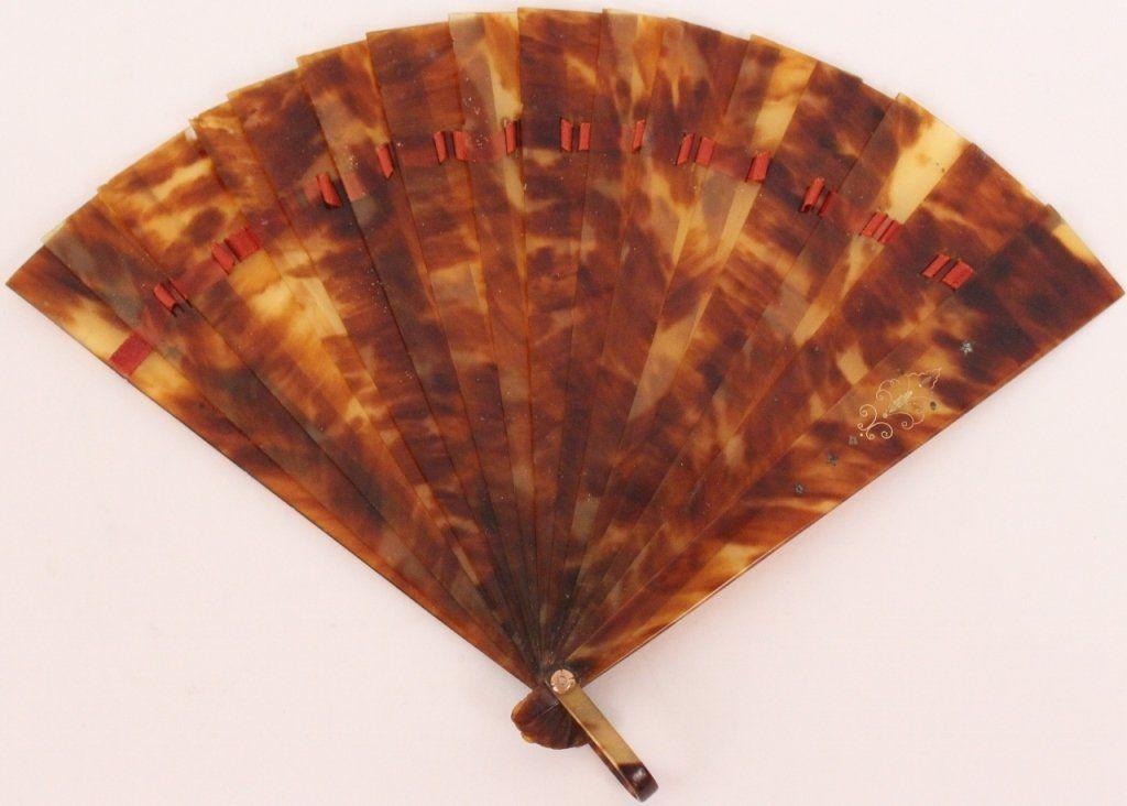 Ladies Faux Tortoiseshell Fan
