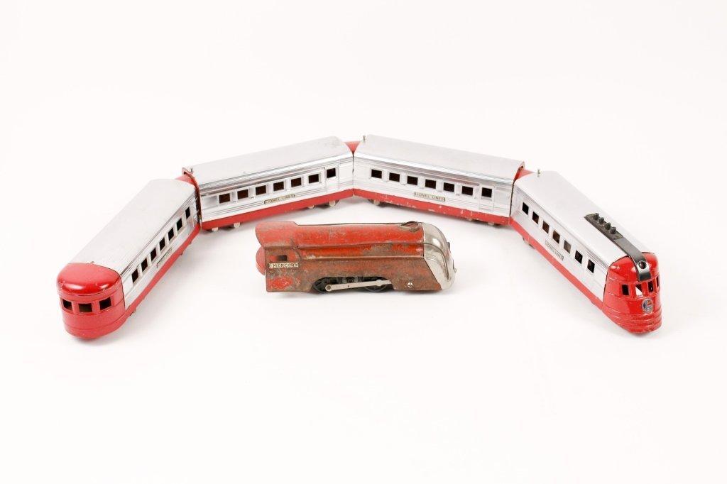 Red Lionel Jr. Train & New York Central Engine