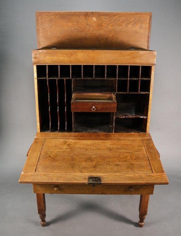 American Oak Plantation Style or Clerk's Desk - 10
