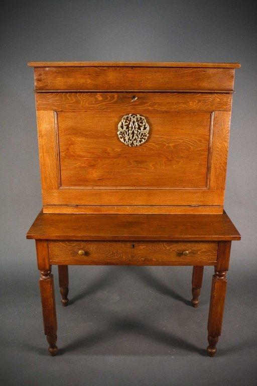 American Oak Plantation Style or Clerk's Desk