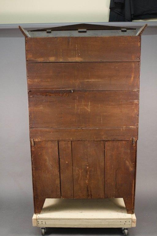 American Empire Mahogany Secretary Bookcase - 9