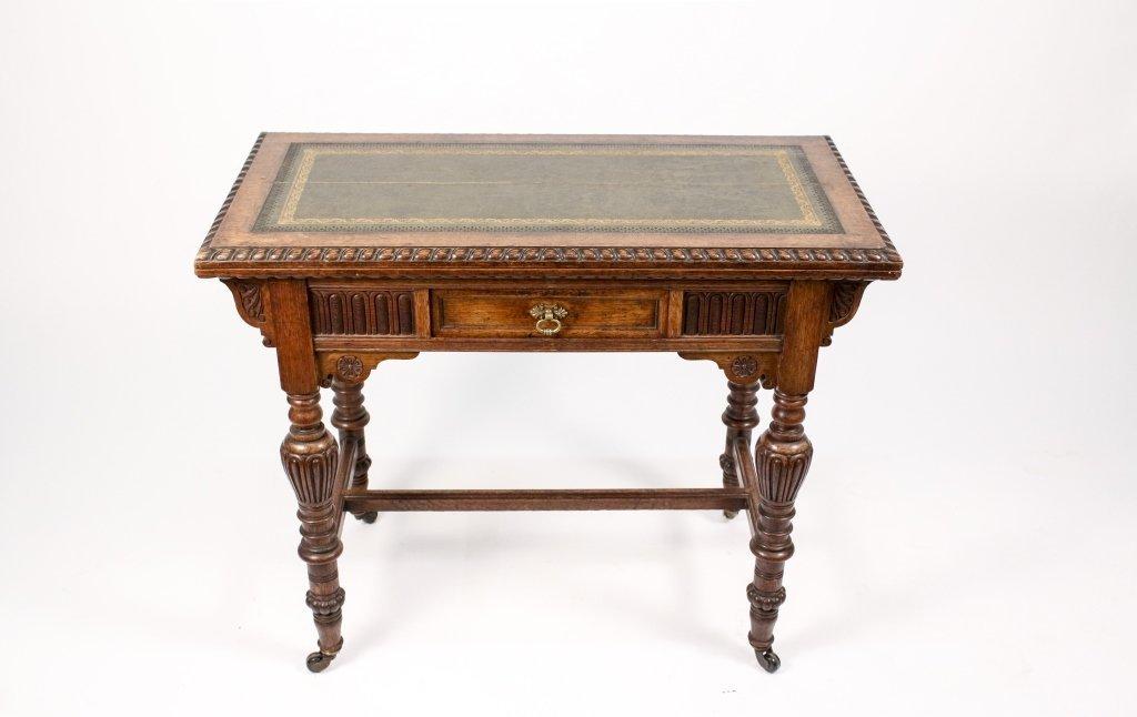 English 19th C. Oak Flip Top Game Table