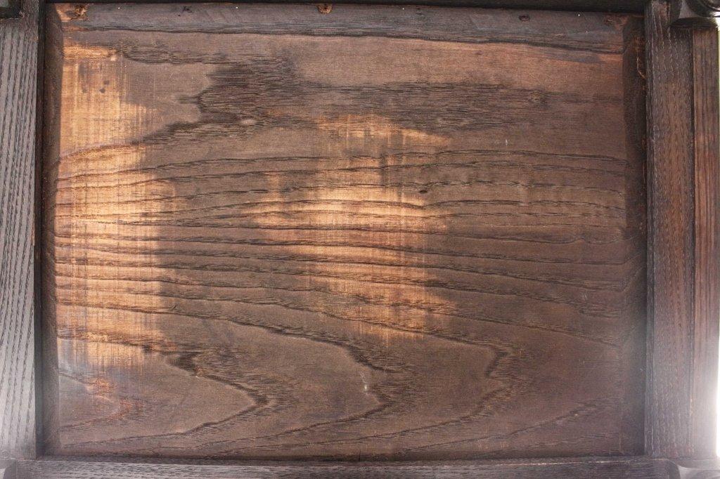 English 19th C. Oak Barley Twist Side Table - 10
