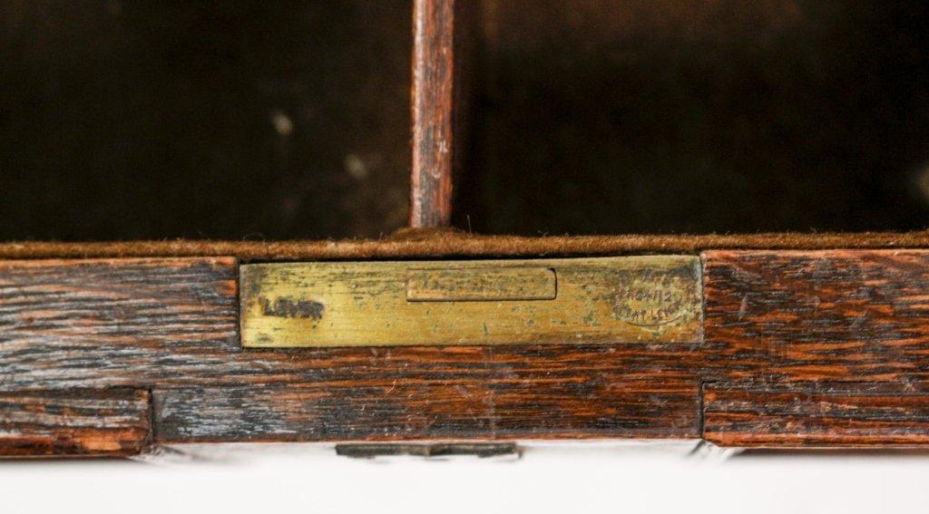 English 19th C. Oak Barley Twist Side Table - 3