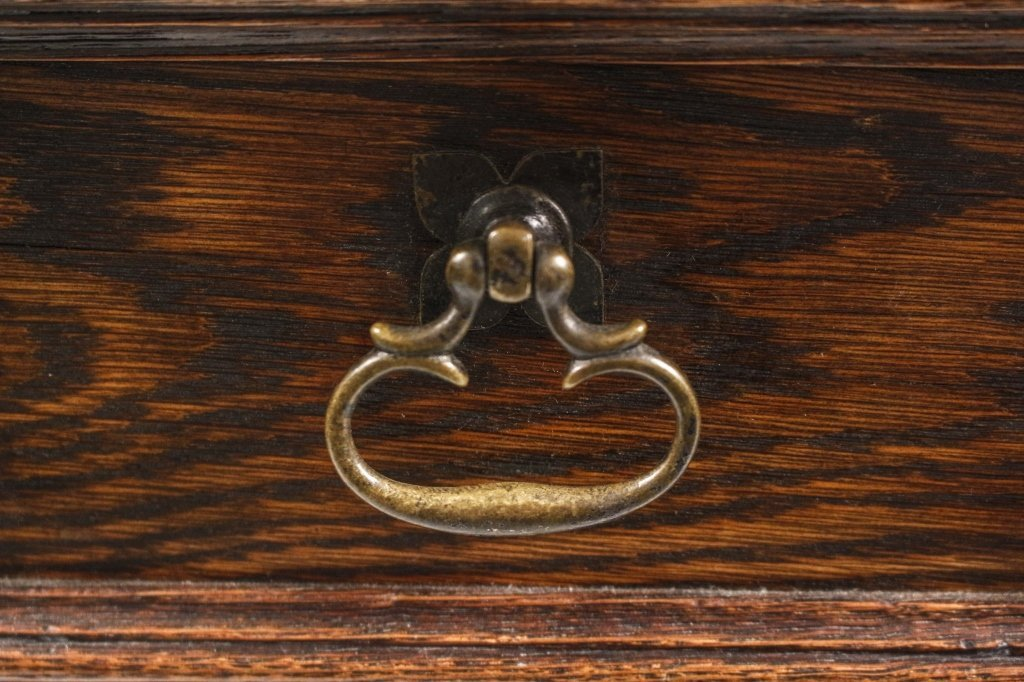 English 19th C. Oak Barley Twist Side Table - 4
