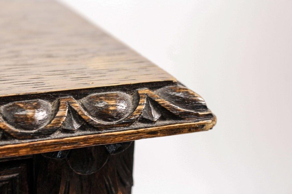 English 19th C. Oak Barley Twist Side Table - 7