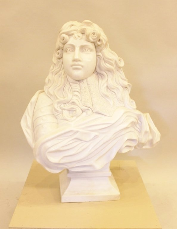 Large Marble Sculptural Bust, Beethoven