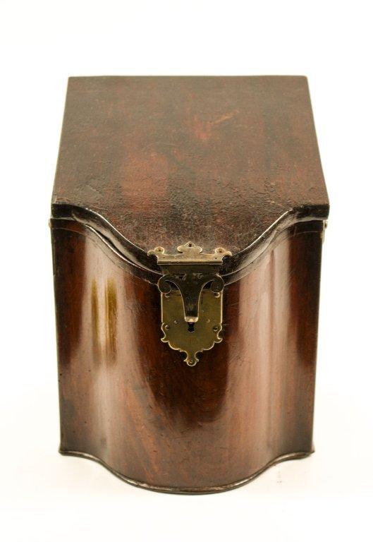 English 19th C. Mahogany Knife Box