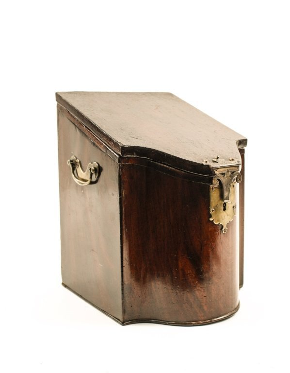 English 19th C. Mahogany Knife Box - 7