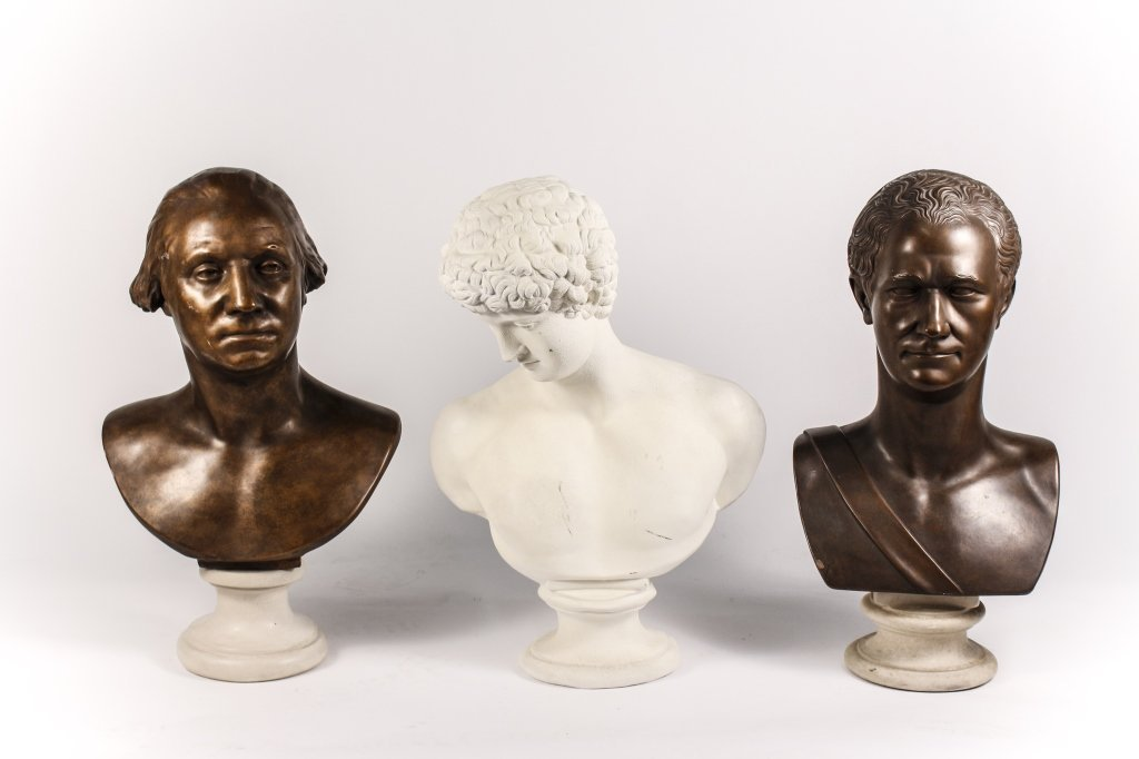 Group of Three Reproduction Figural Busts