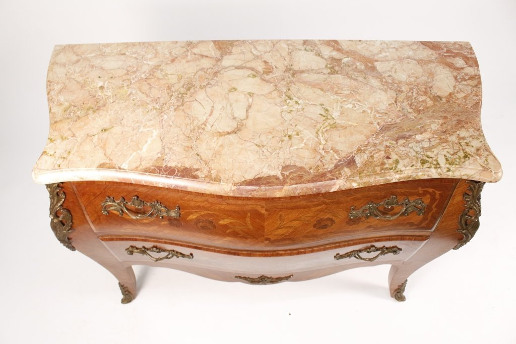 French Louis XV Style Marble Top Commode - 3