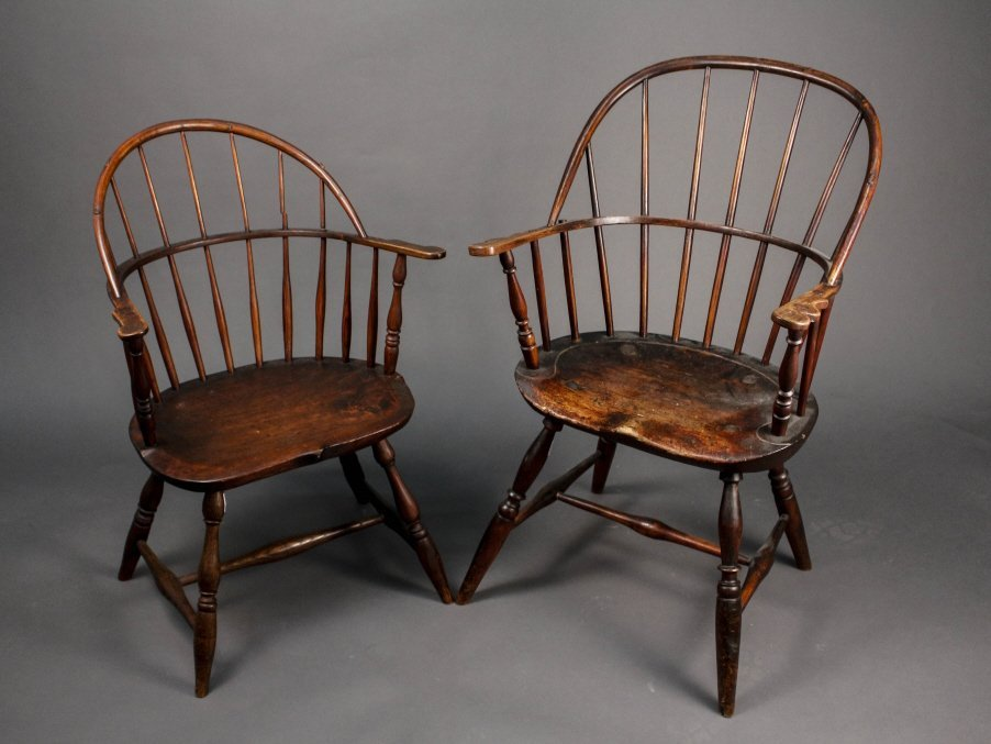 Two New Hampshire Bow Back Windsor Armchairs