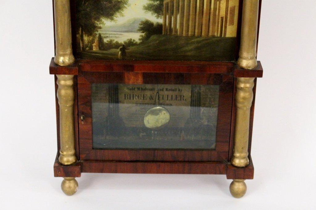 American Empire Mahogany & Gilt Wall Clock - 2
