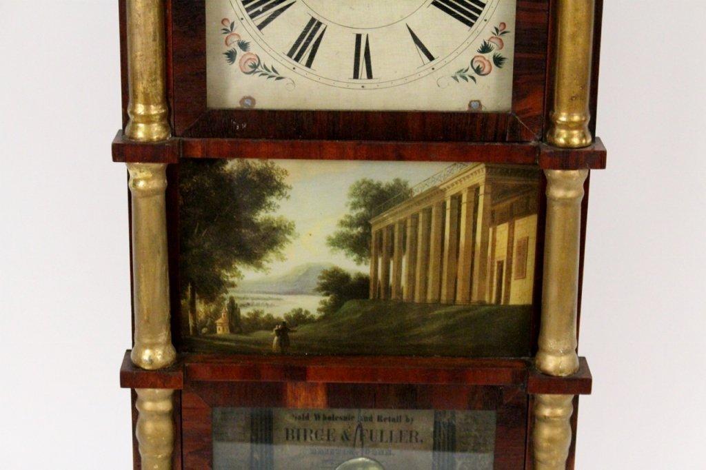 American Empire Mahogany & Gilt Wall Clock - 3