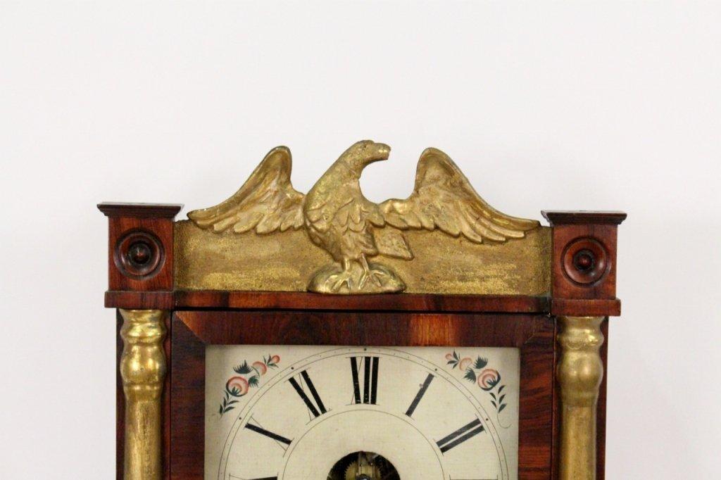 American Empire Mahogany & Gilt Wall Clock - 5