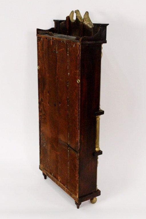 American Empire Mahogany & Gilt Wall Clock - 7