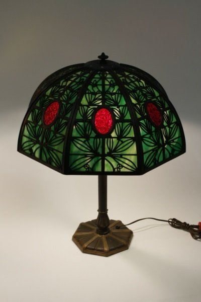 Bradley & Hubbard Eight Panel Lamp