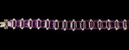 Cartier Ladies 14k Yellow Gold Amethyst  Diamond