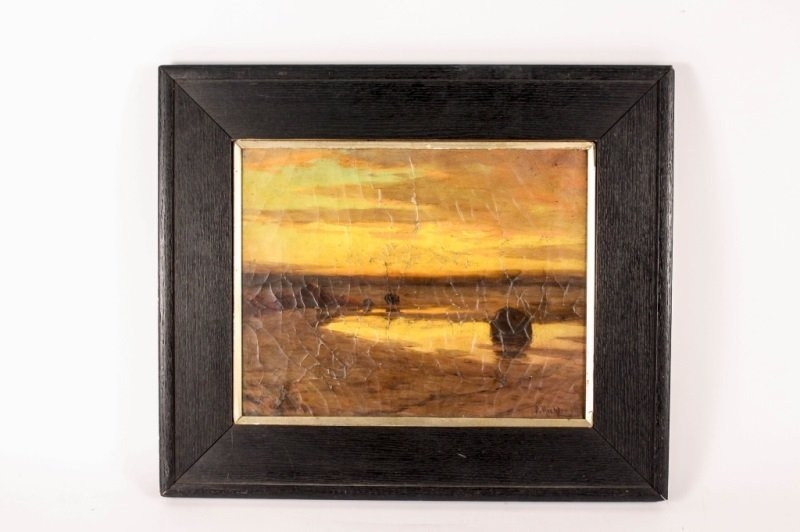 Henry Richter California Sunset Oil on Canvas