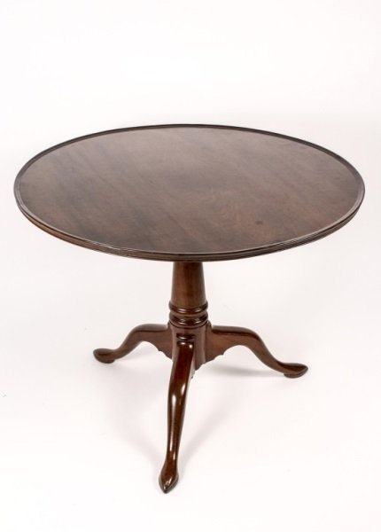 English Queen Anne Style Mahogany Tilt Top Table