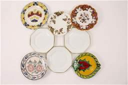 8 Porcelain & Ceramic Plates, Some Signed