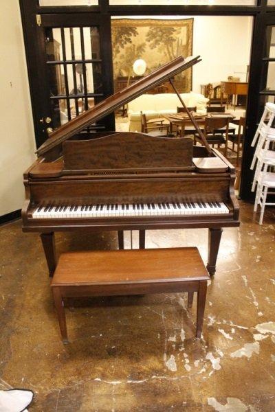 Knabe Walnut Baby Grand Piano, Circa 1915