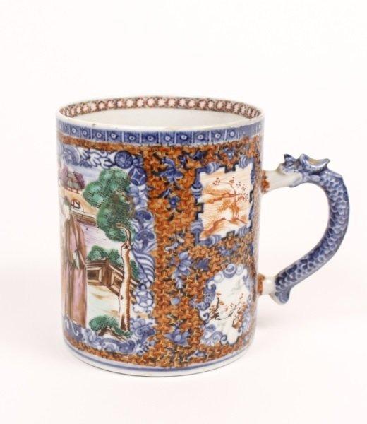Chinese Export Porcelain Handled Mug, 19th C.