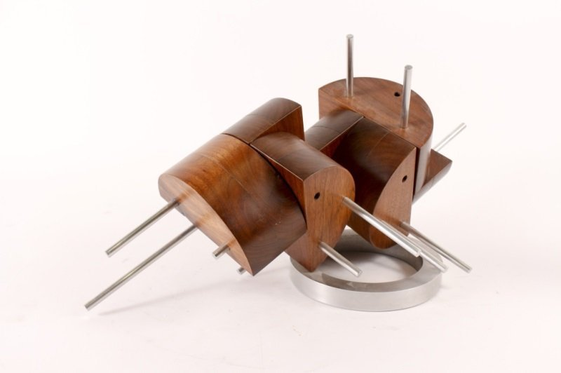 Wood & Metal Abstract Sculpture by Peter Risser