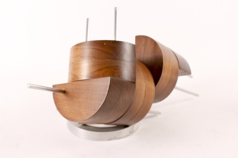 Wood & Metal Abstract Sculpture by Peter Risser - 2