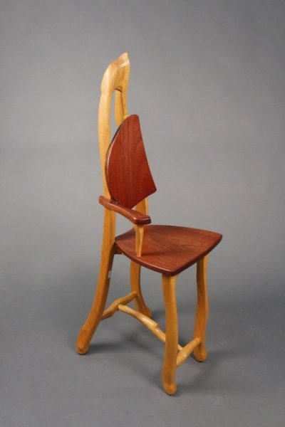 Michael Gilmartin Hand Carved Modernist Chair Lot 327