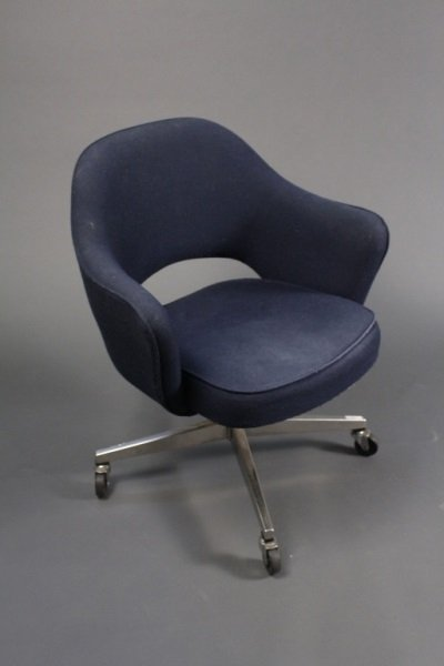 Eero Saarinen For Knoll Navy Blue Office Chair