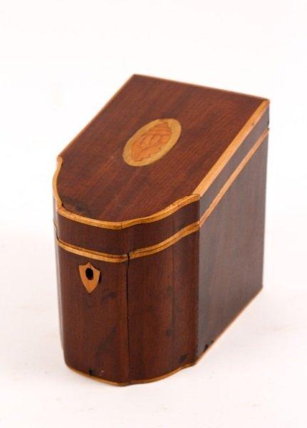 Unusual Georgian Serpentine Tea Caddy