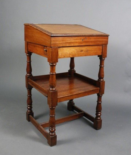 English Open Davenport or Lectern w/Desk