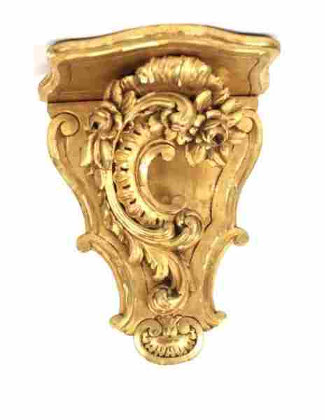 French Style Gilt Wood & Gesso Wall Bracket