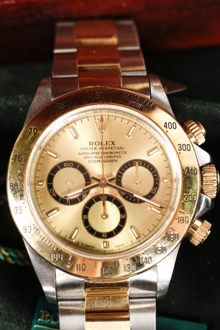 Rolex Oyster Perpetual Watch w/ Champagne Dial