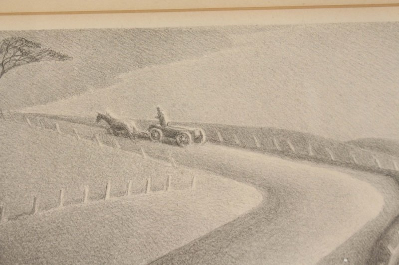 "Grant Wood ""March"" Signed Lithograph, AAA - 3"