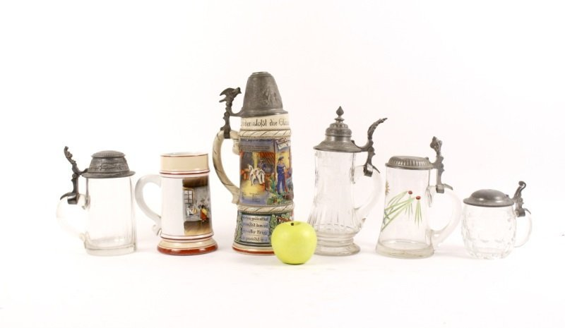 Collection of 6 German Tankards or Bier Steins - 2